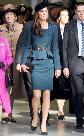 Kate Middleton nailing in peplum skirt suit