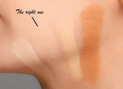Choosing the foundation according to your skin color