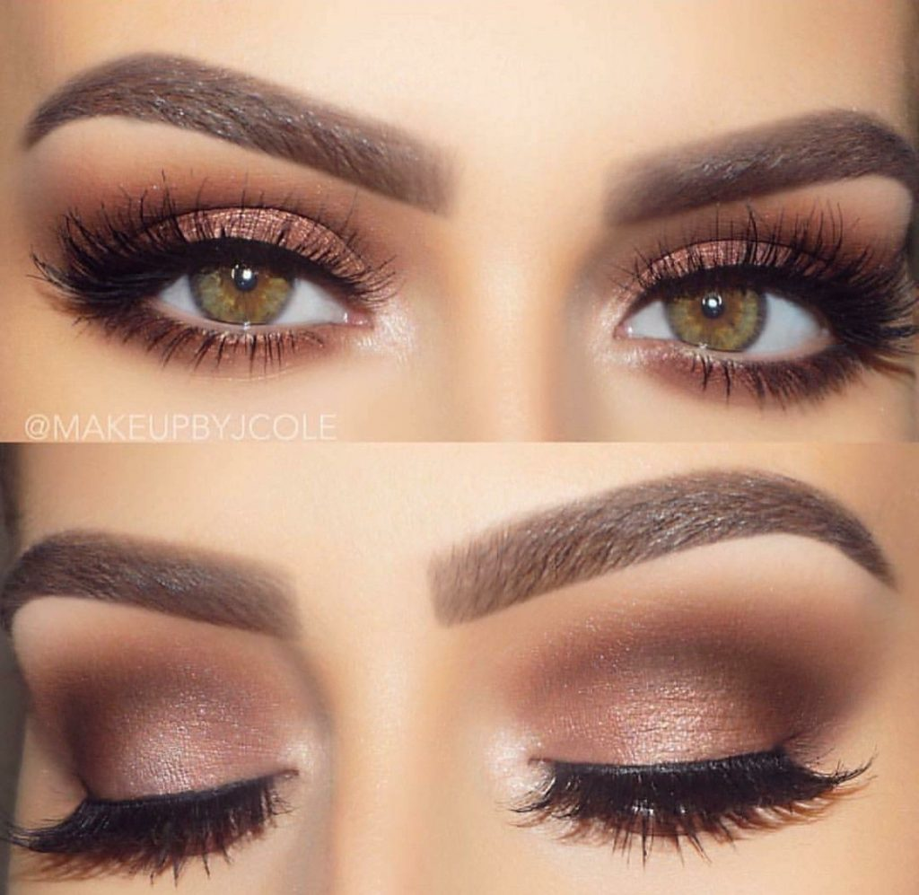 prom makeup for brown and hazel eyes