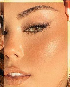 Natural fox eye makeup