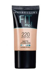 Maybelline New York Fit Me Matte + Poreless Liquid Foundation for larges pores and acne scars