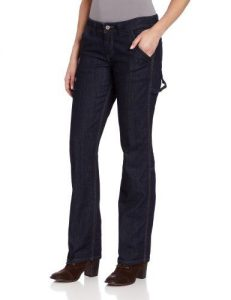 Dickies Women's Relaxed Straight Leg Jean for apple shape
