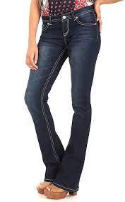 WallFlower Women's Juniors Legendary Stretch Bootcut Denim Jeans for apple shape